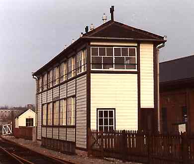 Exeter West Signal Box, re-erected and displayed at The Railway Age, Crewe